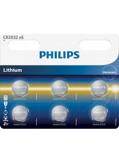 baterie LITHIUM 6ks (CR2032P6/01B, CR 2032, 3,00V)