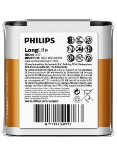Philips baterie LONG LIFE 1ks (3R12L1F/10, 4,5V)