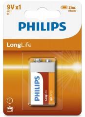 Philips baterie LONG LIFE 1ks (6F22L1B/10, 9V)