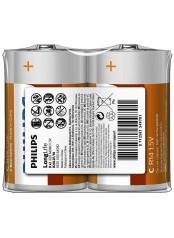 Philips baterie LONG LIFE 2ks R20L2F/10, D, 1,5V)