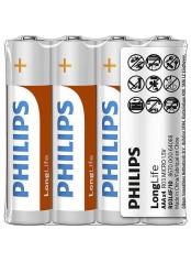 Philips baterie LONG LIFE 4ks (R3L4F/10, AAA, 1,5V)