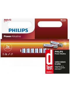 Philips baterie POWER ALKALINE 12ks (LR03P12W/10, AAA, 1,5V)