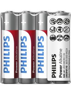 Philips baterie POWER ALKALINE 4ks fólie (LR03P4F/10, AAA, 1,5V)
