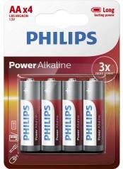 baterie POWER ALKALINE 4ks blistr (LR06P4B/10, AA, 1,5V)
