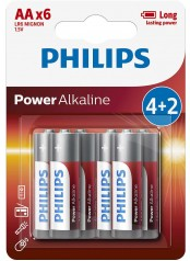 baterie POWER ALKALINE 4+2ks blistr (LR6P6BP/10, AA, 1,5V)